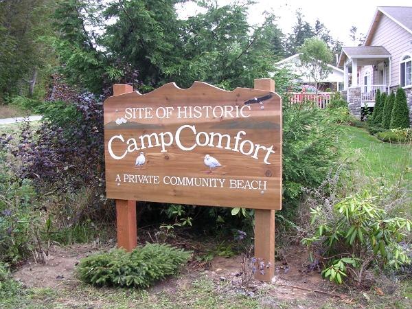 Camp Comfort sign
