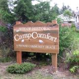 Camp Comfort sign