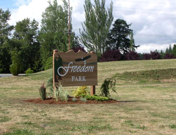 Freedom Park sign