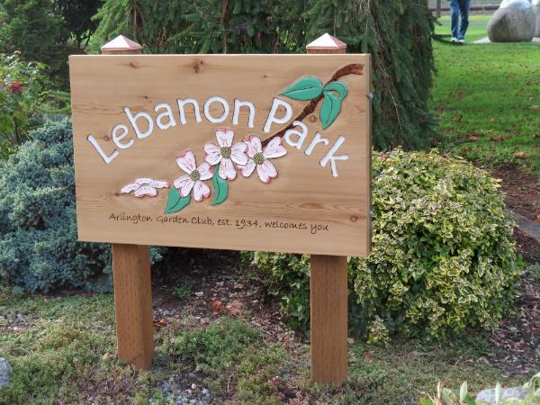 Lebanon Park sign