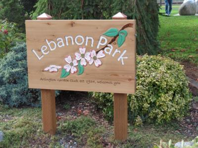 Lebanon Park sign
